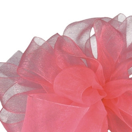 Simply Sheer Ribbon - Rose Pink - 2 Sizes