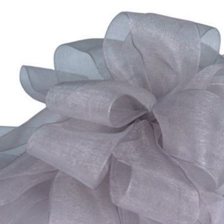 Simply Sheer Ribbon - Silver - 2 Sizes
