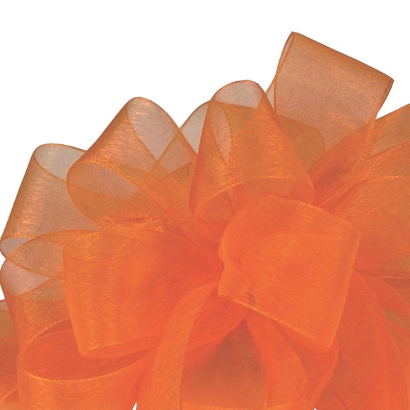 Simply Sheer Ribbon - Tropical Orange - 2 Sizes