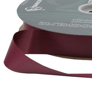 Splendorette Ribbon - Burgundy - 2 Sizes
