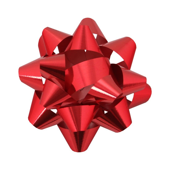 Glitter Star Bow - Red - 2 Sizes