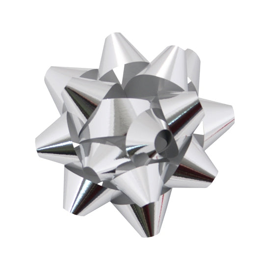 Glitter Star Bow - Silver - 1 Size