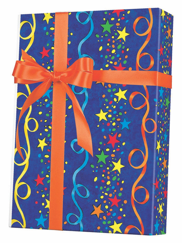Stars & Streamers Gift Wrap