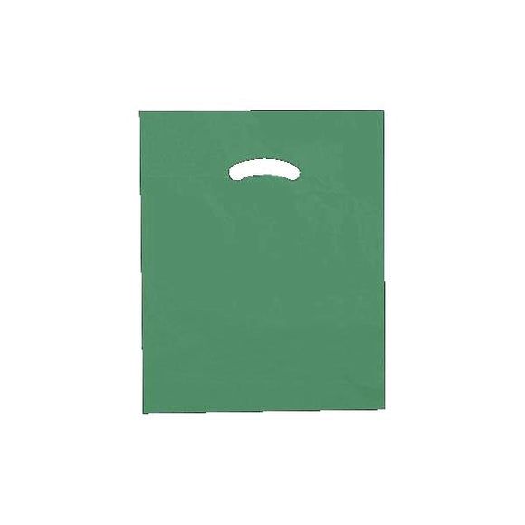 Super Gloss Plastic Merchandise Bags - Dark Green