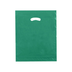 "Super Gloss Plastic Bags - Dark Green - 15"" x 18"" x 4"""