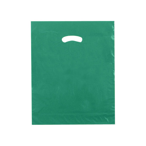 Super Gloss Plastic Bags - Dark Green - 15