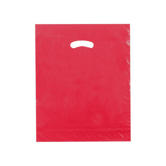 Super Gloss Plastic Merchandise Bags - Red