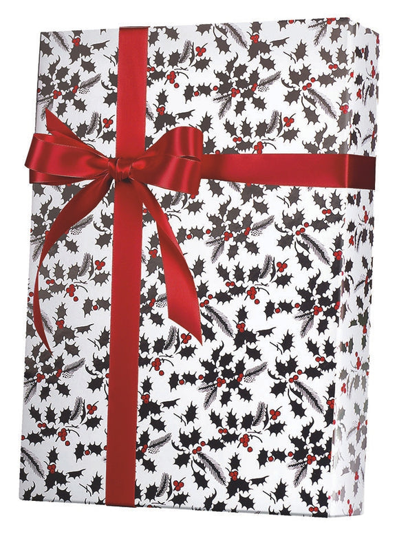 White Holly Gift Wrap