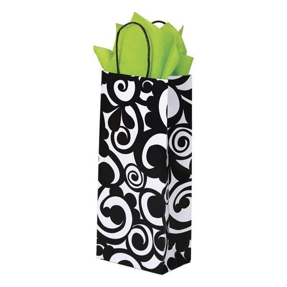 Bold Scroll Shopping Bags