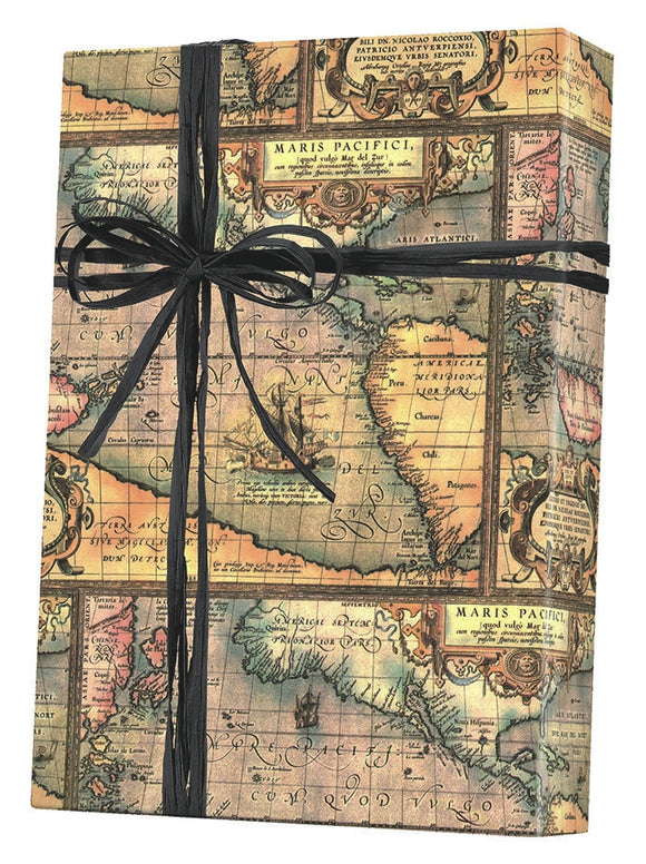 World Map Gift Wrap