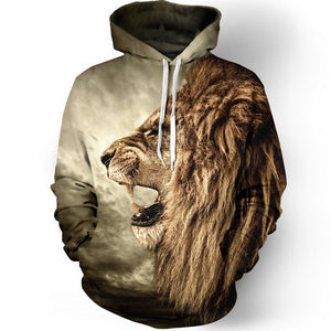 Fashion LION Hooded Shirts 3D - BravMART