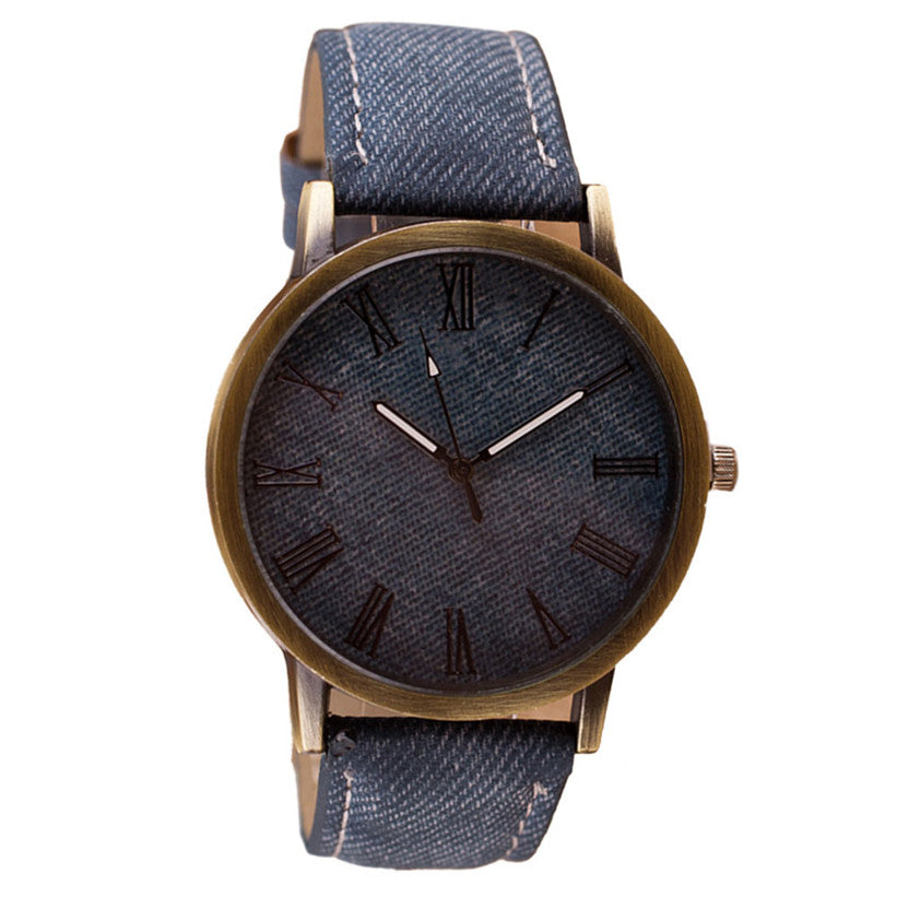 Women's Men's  Watches Vintage Retro Leather Analog Quartz WristWatch