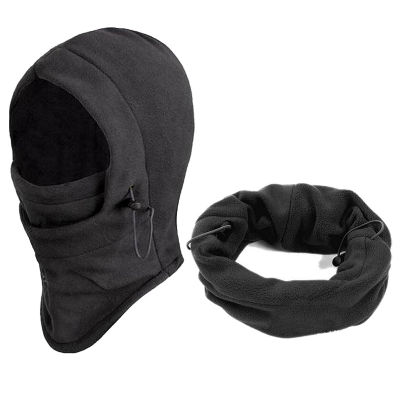 6 in 1 Thermal Fleece Balaclava Outdoor Ski Masks Bike Cyling Beanies Winter Wind Stopper Face Hats