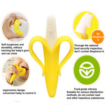Baby Banana Infant Training Toothbrush and Teether - Yellow