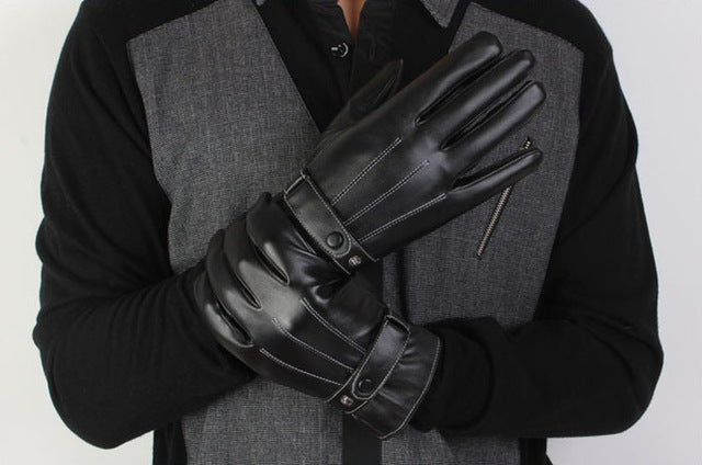 Luxury Driving Men's Military Touch Screen Gloves Cashmere - BravMART