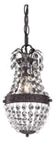 Dark Bronze with Clear Crystal 1 Light Mini Pendant - Style: 7279262