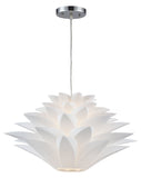 White Inshes 1 Light Full Sized Pendant - Style: 7282820