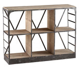 Raw Iron / Natural Wood Newberg Storage Console - Style: 7315268