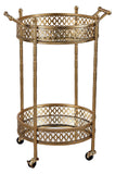 Banded Round Bar Cart - Style: 7790394