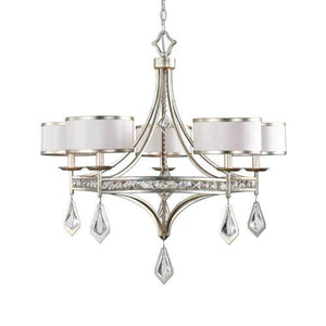 Uttermost Tamworth Silver Champagne Five-Light Chandelier - House Sort