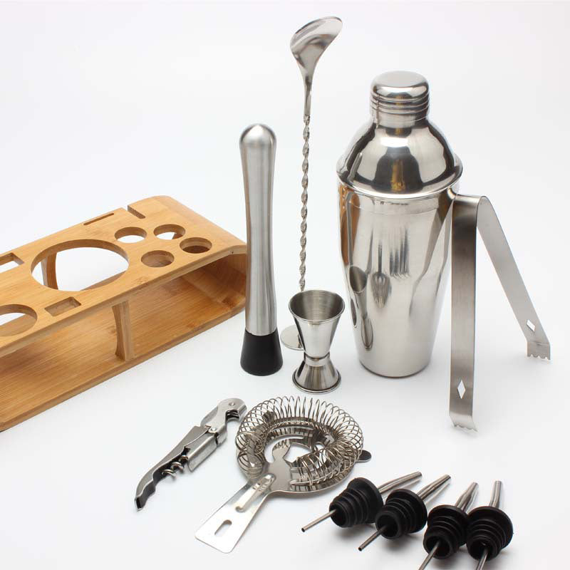 12pcs/set Stainless Steel Cocktail Shaker Set 750ml/550ml