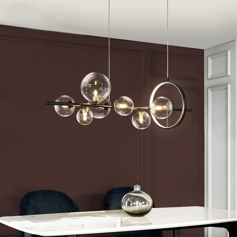 LED  Glass Bubble Modern Chandelier