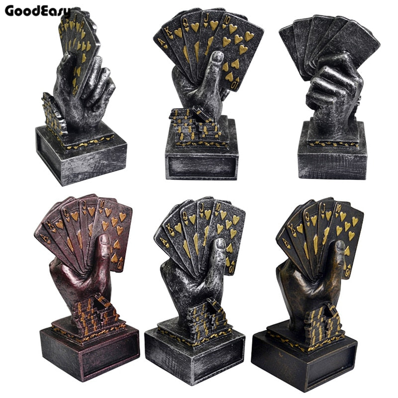 High Quality Casino Metal Poker Card Tournament Winner Trophy Cup Poker Trophy Poker Souvenirs Three Color
