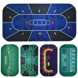 Texas Hold'em Poker Black Jack Baccarat dice Mat 1.2*0.6m Durable rubber Home gaming desk mat