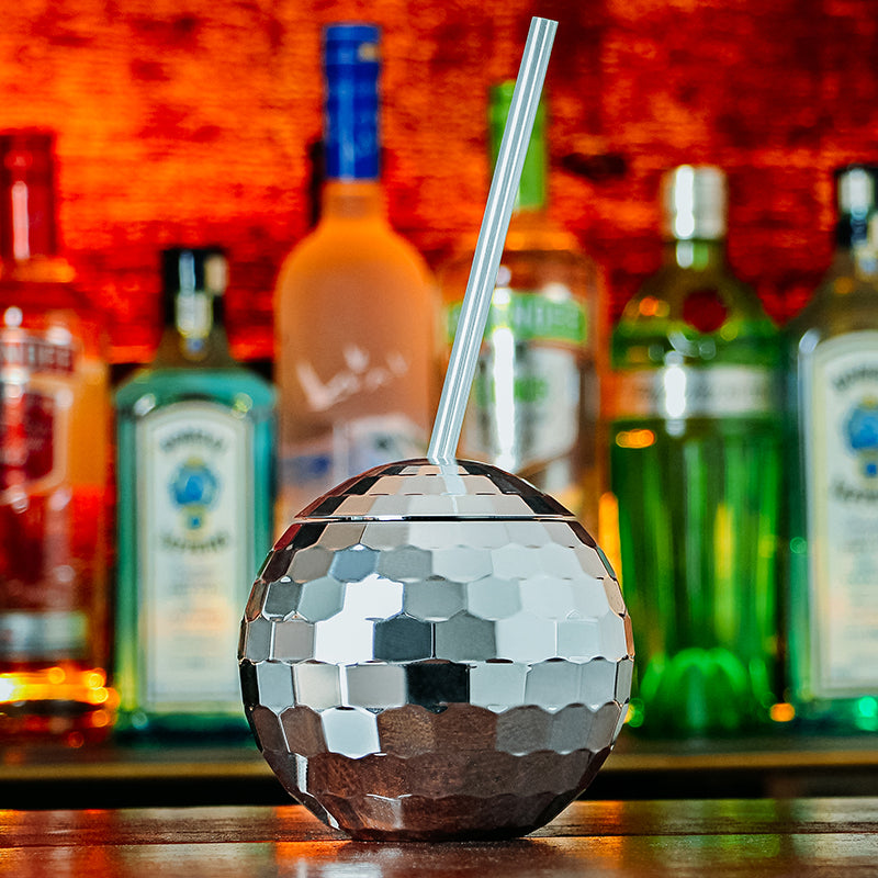 Creative DISCO Ball Cup Flash Effect Cocktail Glass Plastic