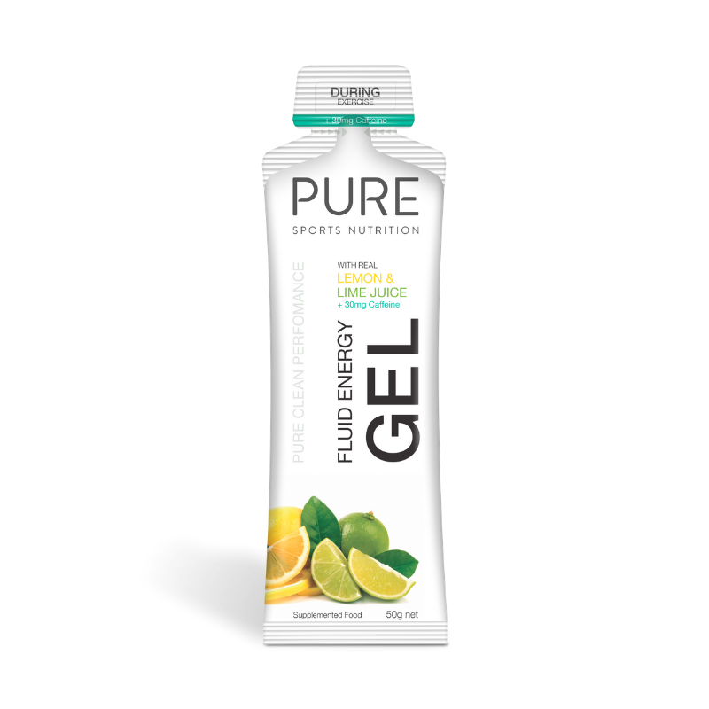 PURE NUTRITION | Fluid Energy Gels 50g - Lemon Lime Juice Caffeine