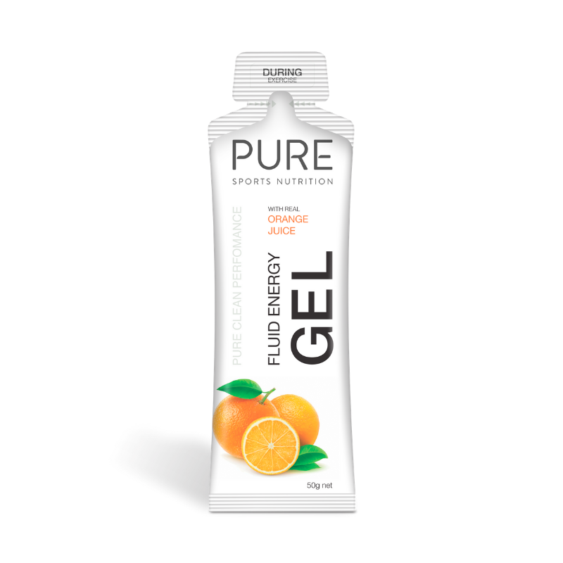 PURE NUTRITION | Fluid Energy Gels 50g - Orange Juice