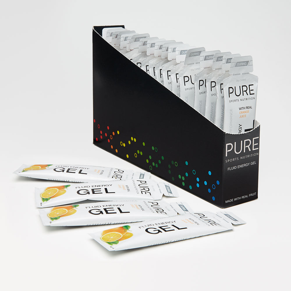 PURE NUTRITION | Fluid Energy Gel Box - Orange