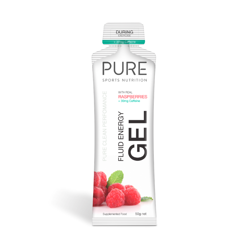 PURE NUTRITION | Fluid Energy Gels 50g - Raspberry Caffeine