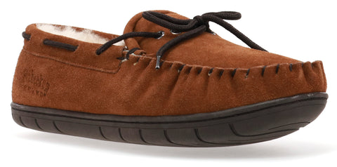 men's country plush lined moccasin slipper for outdoor adventures