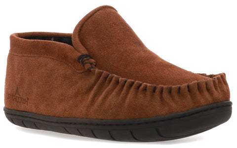men's trapper flannel lined moccasin slipper for outdoor adventures