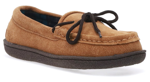 women's eden flannel lined moccasin slipper for outdoor adventures
