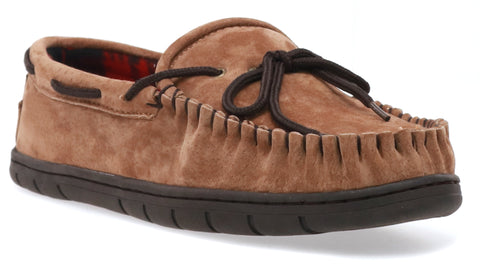 men's country flannel lined moccasin slipper for outdoor adventures
