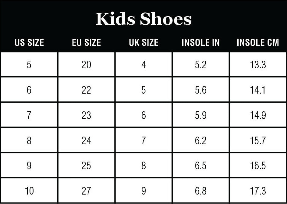 Staheekum Kid's Shoes Size Charts