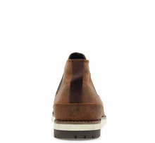 Load image into Gallery viewer, Mens outdoor boots, ankle-height, in brown with elastic gore, pull tab, and rubber outsole.