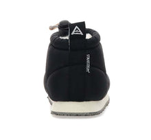 Load image into Gallery viewer, Kids nylon slipper bootie with nylon black upper and branded outsole.