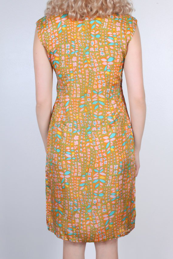 60s Floral Cheongsam Dress