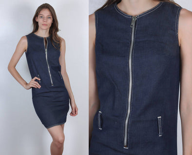 60s Denim Dress Weeds by Evelyn Sini