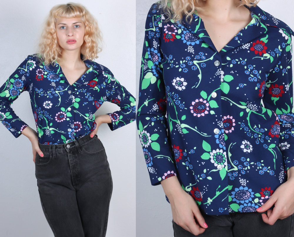 70s Button Up Blouse