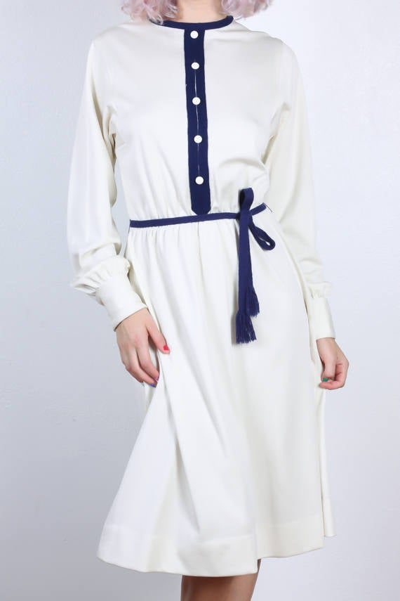 70s Belted Dress
