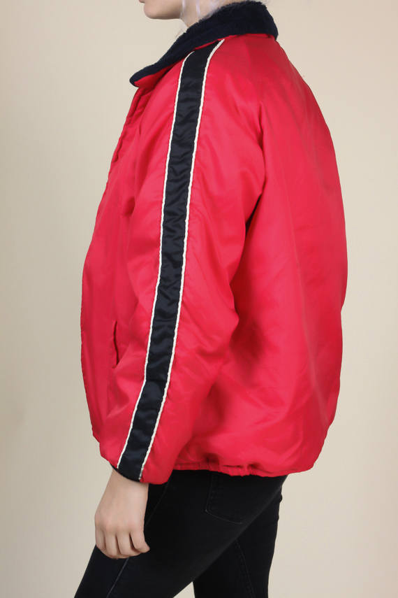 80s Striped Puffy Jacket