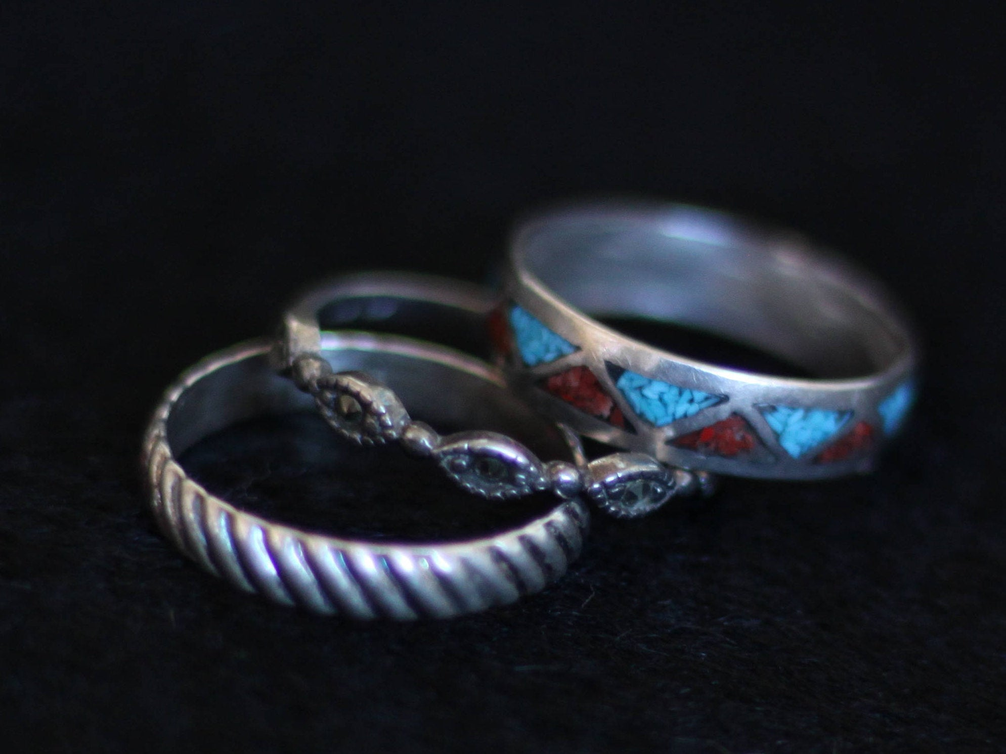 Vintage Sterling Silver Rings - Priced Individually