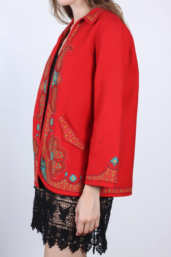 60s Embroidered Paisley Jacket