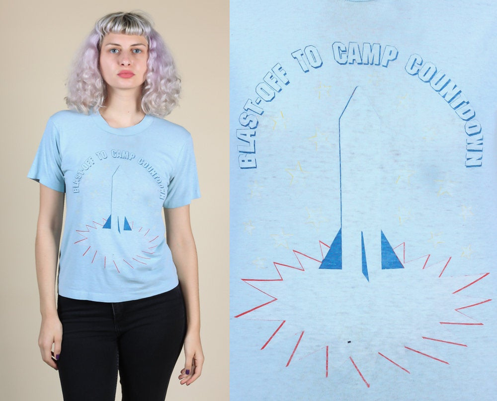 80s Rocket Ship Shirt