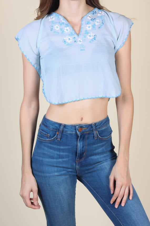 70s Hippie Crop Top