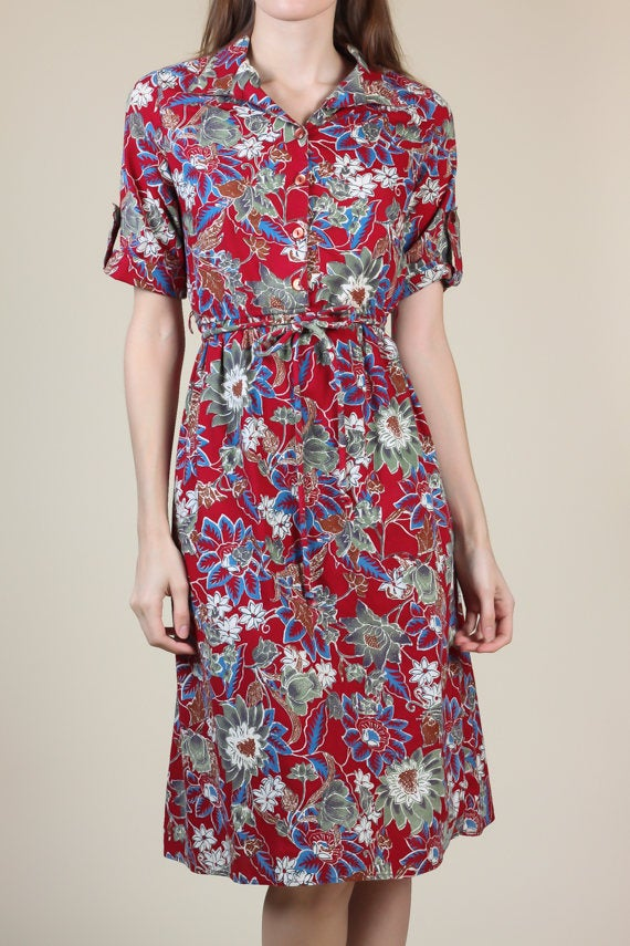 70s Shirtwaist Dress